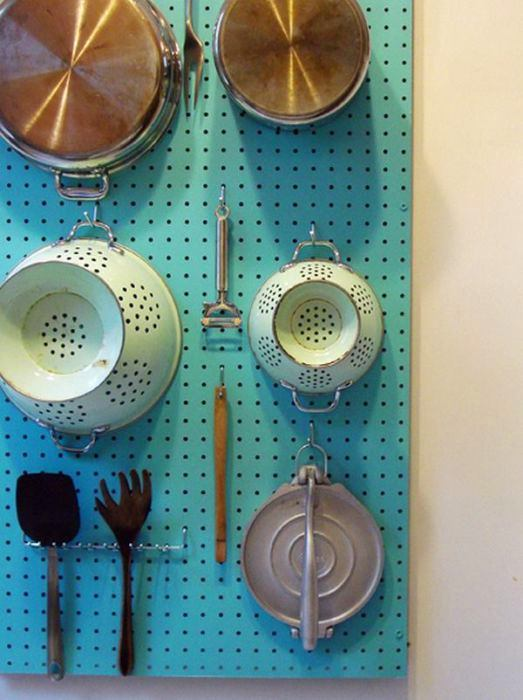 3-small-kitchen-storage-ideas-design-hacks-rational-space-perforated-metal-board-pinboard-for-keeping-pots-stewpots-appliances