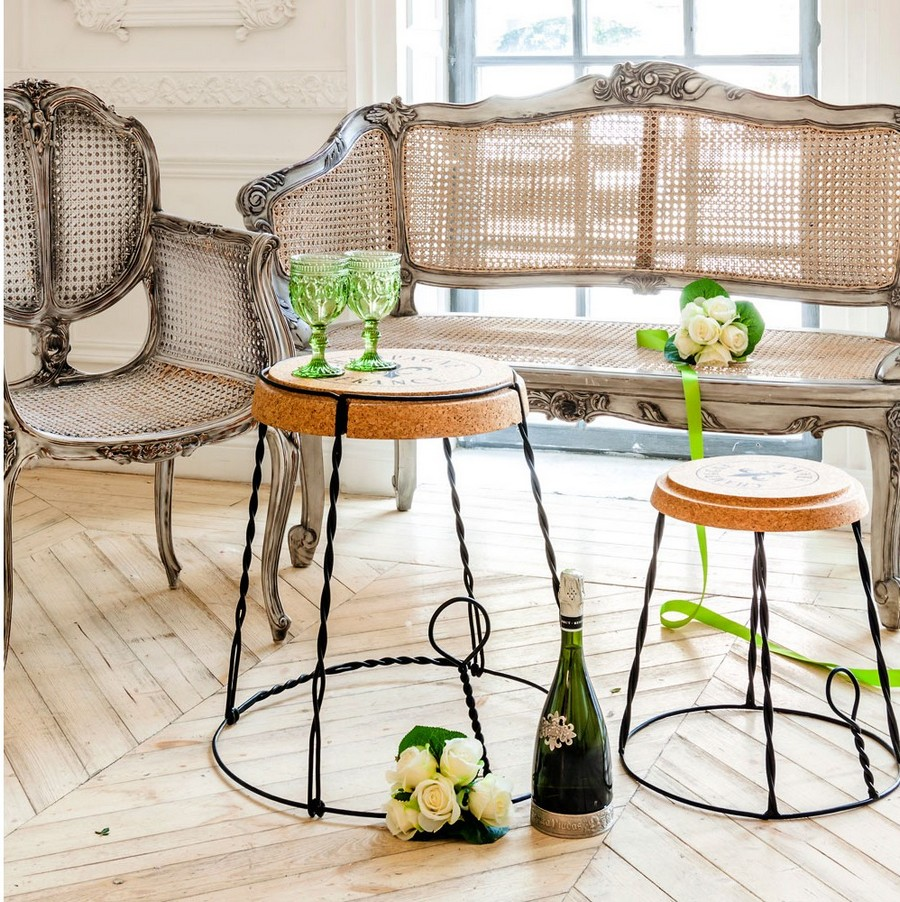 5-4-Champagne-France-Chair-with-iron-framewrok-cork-seat-shaped-like-champagne-bottle-retainer