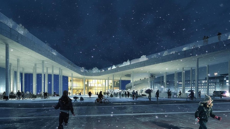 5-Cacti-Towers-project-3D-renders-in-Copenhagen-new-urban-IKEA-mall-hotel-Denmark-modern-architecture-unusual-buildings-hexagonal-balconies-bicycle-parking-lot-area