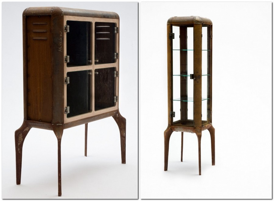 6-1-zero-waste-target-production-of-furniture-from-recycled-waste-Dennis-Slootweg-Netherlands-reused-old-rustry-scrap-metal-cupboard