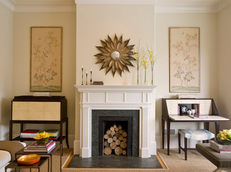 6-3-symmetrical-decor-symmetry-in-interior-design-living-room-traditional-style-artworks-Japanese-style-fireplace-firewood-sunrise-mirror-console-tables-sofa