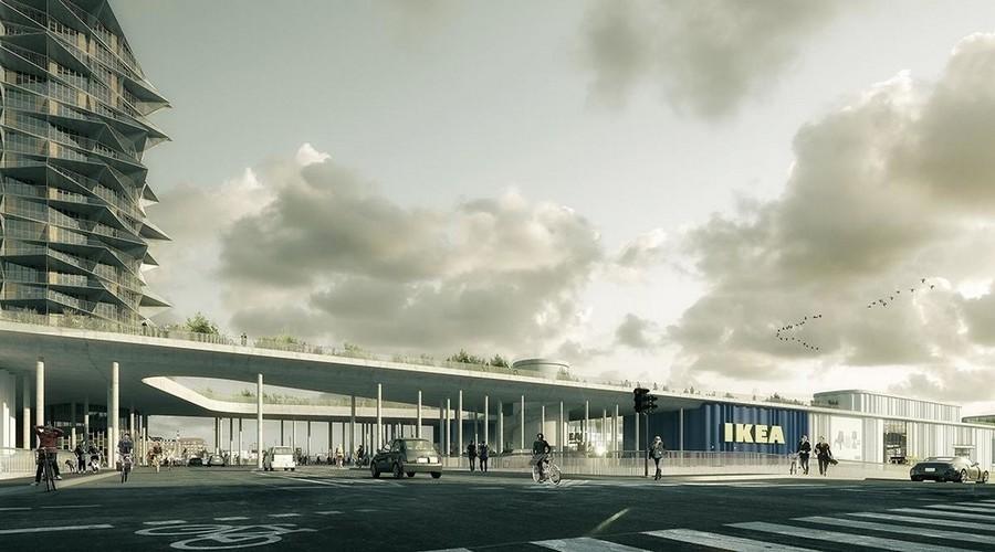 6-Cacti-Towers-project-3D-renders-in-Copenhagen-new-urban-IKEA-mall-hotel-Denmark-modern-architecture-unusual-buildings-hexagonal-balconies