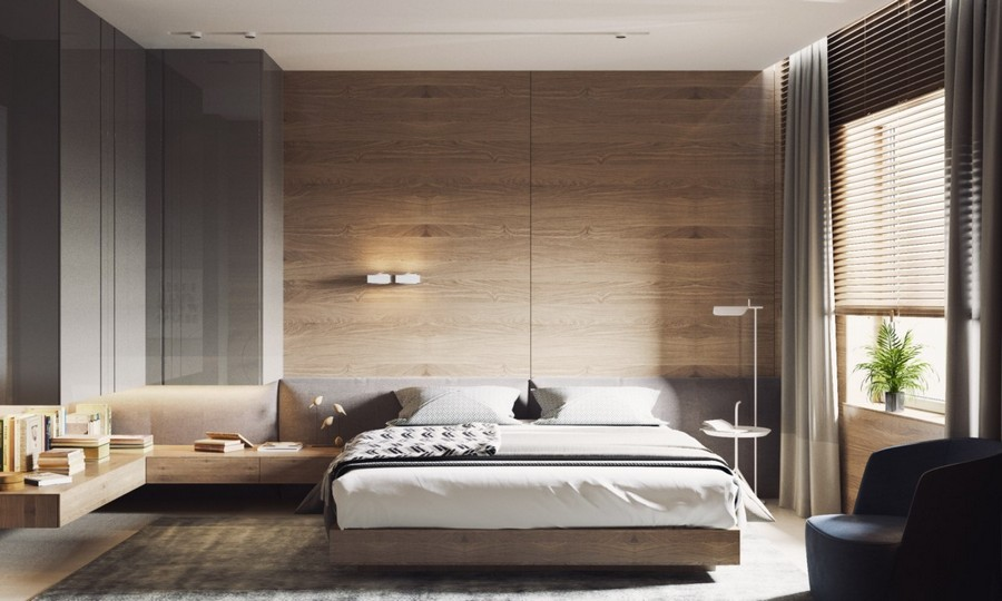 8-MDF-panels-boards-in-interior-design-wall-decoration-decor-gray-bedroom-beige-light-wood-floating-wall-mounted-nightstands-bedside-shelves-drawers-storage-bi-color-curtains-coffee-table-arm-chair