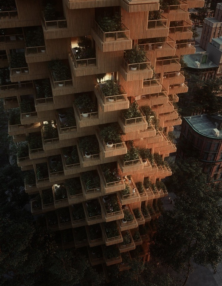 9-wooden-timber-log-house-tower-residential-multi-storey-building-in-Toronto-Canada-by-Penda-Architects-vertical-garden-green-eco-friendly-architecture