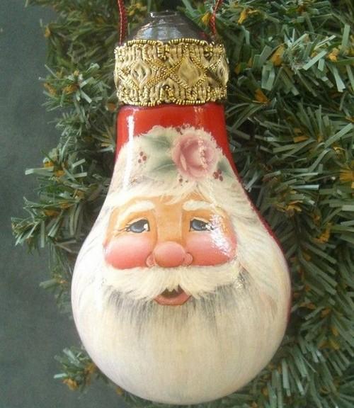 0-old-light-bulbs-recycling-reuse-ideas-DIY-handmade-Christmas-tree-decorations-Santa-Clause