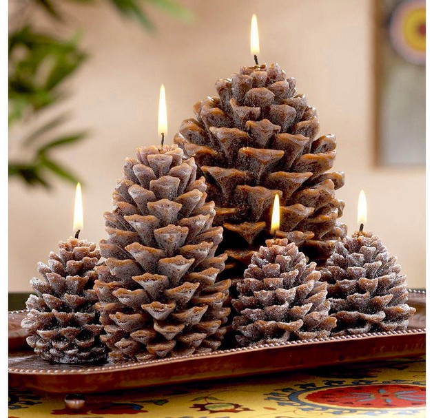 0-pinecones-pine-fir-spruce-cones-shaped-candles-home-decor-Christmas-decoration-ideas-eco-style