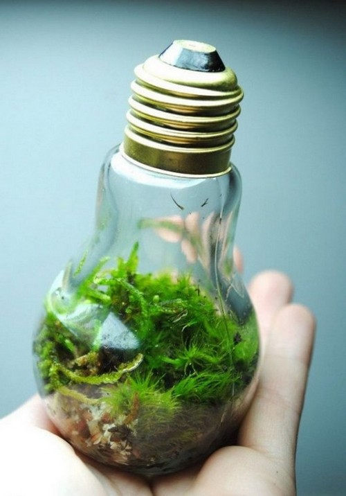 14-old-light-bulbs-recycling-reuse-ideas-DIY-handmade-Christmas-tree-decorations-eco-style-natural-moss
