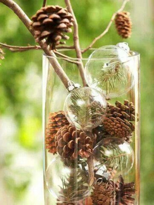 16-pinecones-pine-fir-spruce-cones-home-decor-Christmas-decoration-ideas-eco-style-glass-vase-balls-branches
