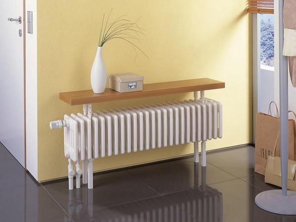 3-attractive-decorative-radiator-design-ideas-stylish-console-table-white-wooden-countertop-mudroom-hallway-interior