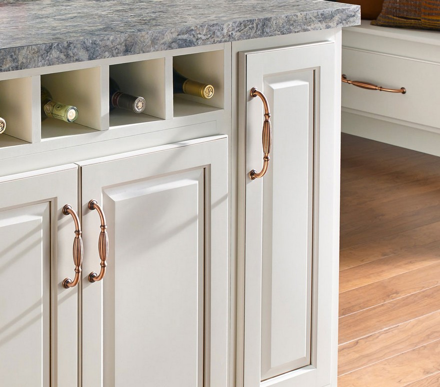 4-copper-furniture-accessories-fixtures-handles-on-white-kitchen-cabinets-wine-rack-metal