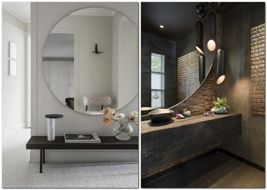 1-big-round-mirror-in-interior-design-home-decor-wall-hallway-console-table-bathroom-countertop-dark-brown-walls