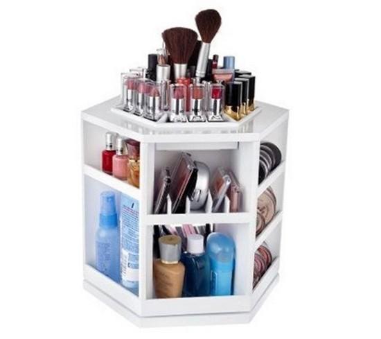 5-neat-tidy-makeup-beauty-products-storage-ideas-rotational-rotating-organizer