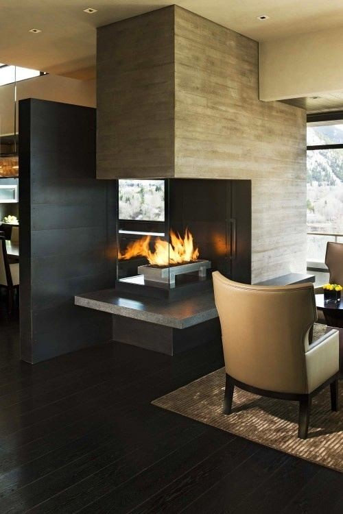 1-8-wood-burning-fireplace-ideas-decoration-in-interior-design-concrete-finishing-in-contemporary-style-dining-room-arm-chair