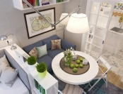 How to Make Most of Just 25 Square Meters? Narrow & Small Studio