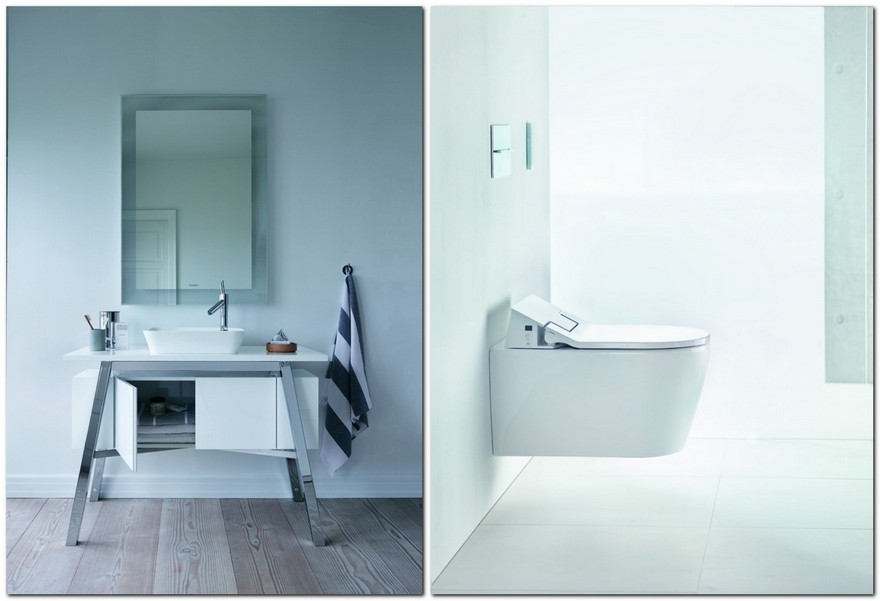 2-1-total-white-bathroom-collection-by-Duravit-sink-vanity-unit-rectangular-mirror-minimalism-wall-mounted-WC-toilet